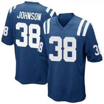 Youth Nike Indianapolis Colts Isaiah Johnson Royal Blue Team Color Jersey - Game