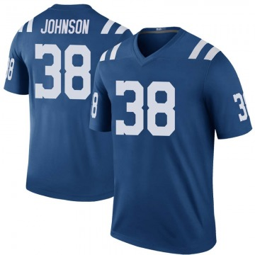 Youth Nike Indianapolis Colts Isaiah Johnson Royal Color Rush Jersey - Legend