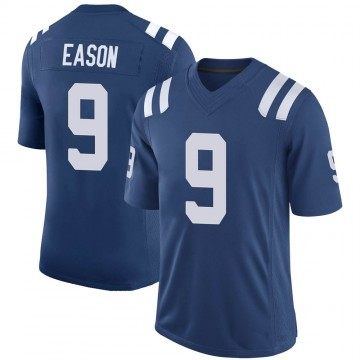Youth Nike Indianapolis Colts Jacob Eason Royal 100th Vapor Jersey - Limited