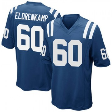 Youth Nike Indianapolis Colts Jake Eldrenkamp Royal Blue Team Color Jersey - Game