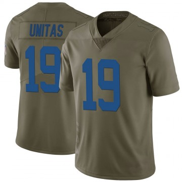 Youth Nike Indianapolis Colts Johnny Unitas Green 2017 Salute to Service Jersey - Limited