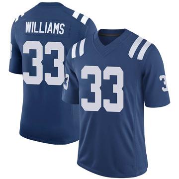 Youth Nike Indianapolis Colts Jonathan Williams Royal 100th Vapor Jersey - Limited