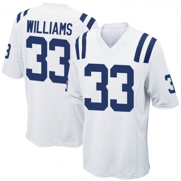 Youth Nike Indianapolis Colts Jonathan Williams White Jersey - Game