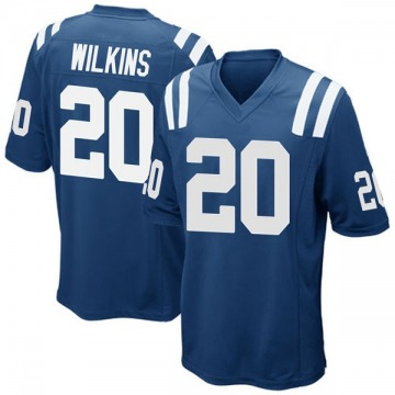 Youth Nike Indianapolis Colts Jordan Wilkins Royal Blue Team Color Jersey - Game