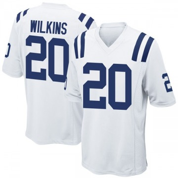 Youth Nike Indianapolis Colts Jordan Wilkins White Jersey - Game