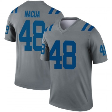 Youth Nike Indianapolis Colts Kai Nacua Gray Inverted Jersey - Legend