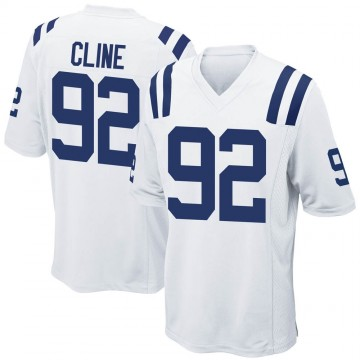 Youth Nike Indianapolis Colts Kameron Cline White Jersey - Game