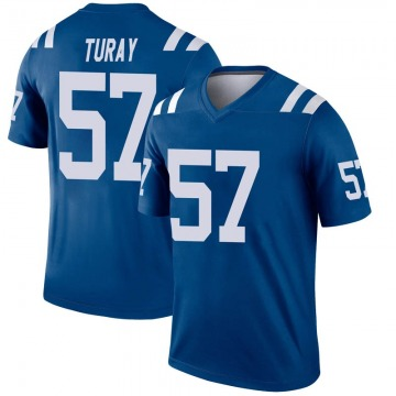 Youth Nike Indianapolis Colts Kemoko Turay Royal Inverted Jersey - Legend