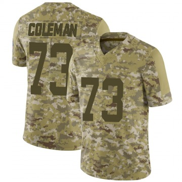 Youth Nike Indianapolis Colts Kendall Coleman Camo 2018 Salute to Service Jersey - Limited