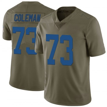 Youth Nike Indianapolis Colts Kendall Coleman Green 2017 Salute to Service Jersey - Limited