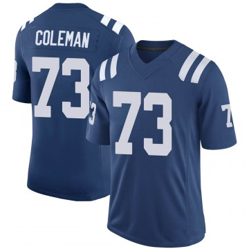 Youth Nike Indianapolis Colts Kendall Coleman Royal 100th Vapor Jersey - Limited