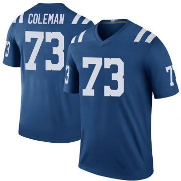 Youth Nike Indianapolis Colts Kendall Coleman Royal Color Rush Jersey - Legend