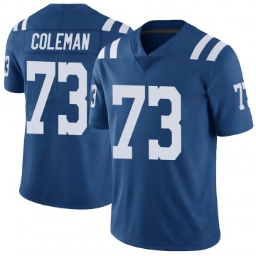 Youth Nike Indianapolis Colts Kendall Coleman Royal Color Rush Vapor Untouchable Jersey - Limited
