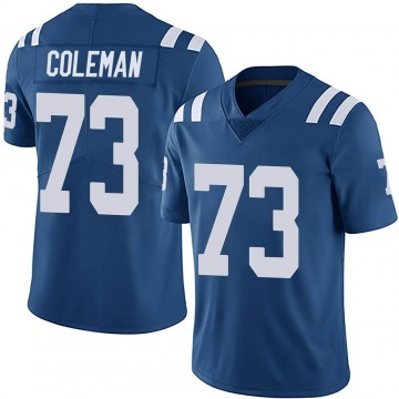 Youth Nike Indianapolis Colts Kendall Coleman Royal Team Color Vapor Untouchable Jersey - Limited