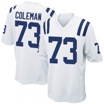 Youth Nike Indianapolis Colts Kendall Coleman White Jersey - Game