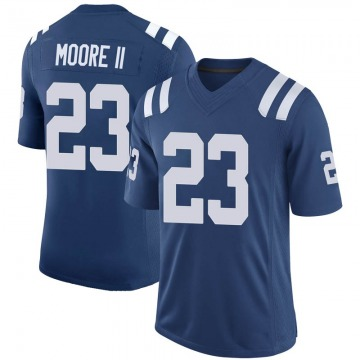 Youth Nike Indianapolis Colts Kenny Moore II Royal 100th Vapor Jersey - Limited