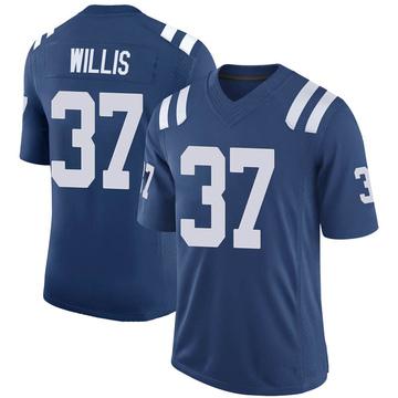 Youth Nike Indianapolis Colts Khari Willis Royal 100th Vapor Jersey - Limited