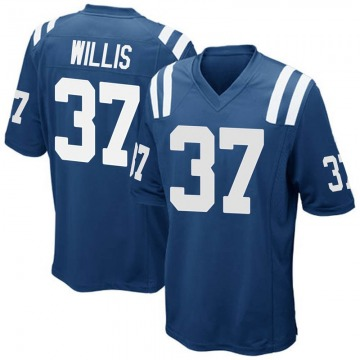 Youth Nike Indianapolis Colts Khari Willis Royal Blue Team Color Jersey - Game