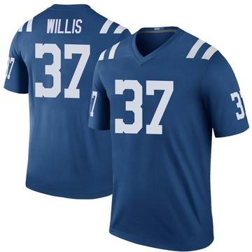 Youth Nike Indianapolis Colts Khari Willis Royal Color Rush Jersey - Legend