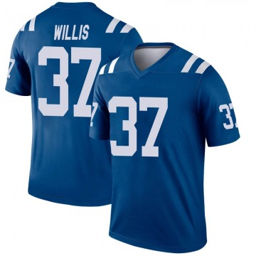 Youth Nike Indianapolis Colts Khari Willis Royal Inverted Jersey - Legend