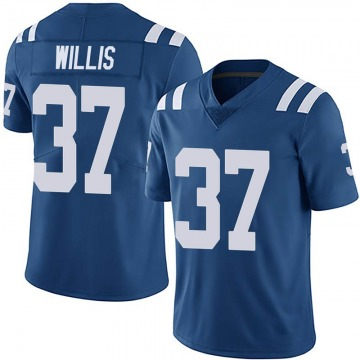 Youth Nike Indianapolis Colts Khari Willis Royal Team Color Vapor Untouchable Jersey - Limited