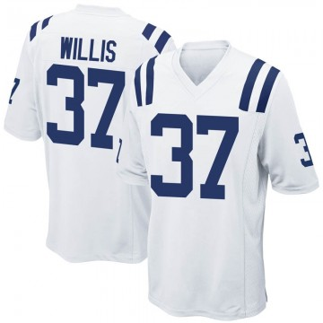 Youth Nike Indianapolis Colts Khari Willis White Jersey - Game