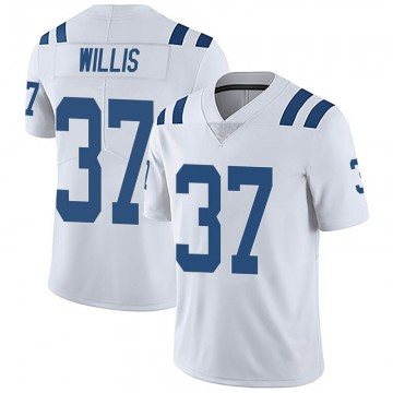 Youth Nike Indianapolis Colts Khari Willis White Vapor Untouchable Jersey - Limited