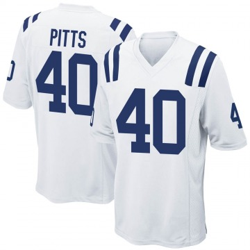 Youth Nike Indianapolis Colts Lafayette Pitts White Jersey - Game