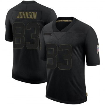 Youth Nike Indianapolis Colts Marcus Johnson Black 2020 Salute To Service Jersey - Limited