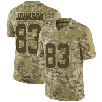 Youth Nike Indianapolis Colts Marcus Johnson Camo 2018 Salute to Service Jersey - Limited