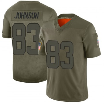 Youth Nike Indianapolis Colts Marcus Johnson Camo 2019 Salute to Service Jersey - Limited