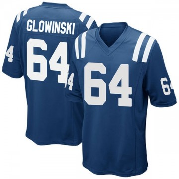 Youth Nike Indianapolis Colts Mark Glowinski Royal Blue Team Color Jersey - Game