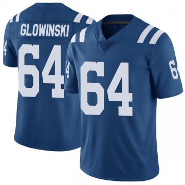 Youth Nike Indianapolis Colts Mark Glowinski Royal Color Rush Vapor Untouchable Jersey - Limited