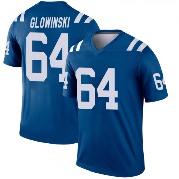 Youth Nike Indianapolis Colts Mark Glowinski Royal Inverted Jersey - Legend