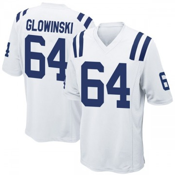 Youth Nike Indianapolis Colts Mark Glowinski White Jersey - Game