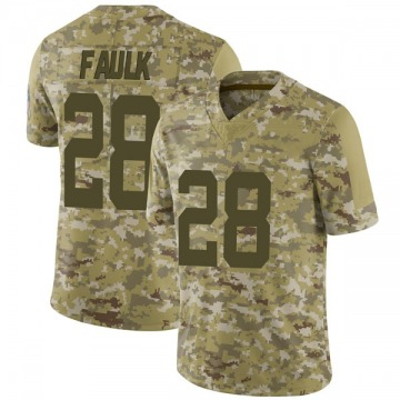 Youth Nike Indianapolis Colts Marshall Faulk Camo 2018 Salute to Service Jersey - Limited
