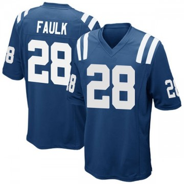 Youth Nike Indianapolis Colts Marshall Faulk Royal Blue Team Color Jersey - Game