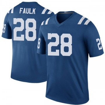 Youth Nike Indianapolis Colts Marshall Faulk Royal Color Rush Jersey - Legend