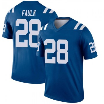 Youth Nike Indianapolis Colts Marshall Faulk Royal Inverted Jersey - Legend