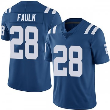 Youth Nike Indianapolis Colts Marshall Faulk Royal Team Color Vapor Untouchable Jersey - Limited