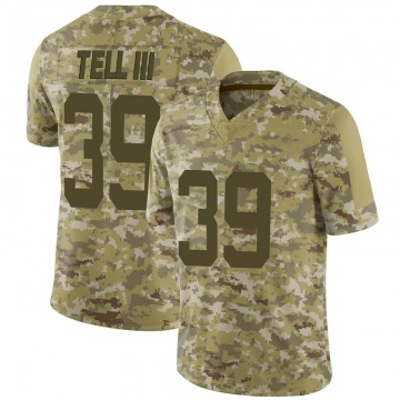 Youth Nike Indianapolis Colts Marvell Tell III Camo 2018 Salute to Service Jersey - Limited