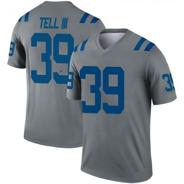 Youth Nike Indianapolis Colts Marvell Tell III Gray Inverted Jersey - Legend