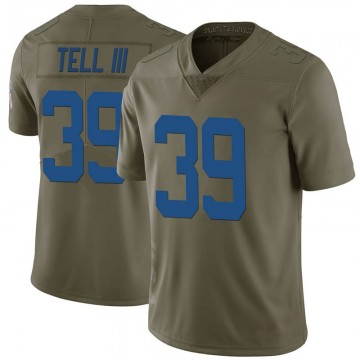 Youth Nike Indianapolis Colts Marvell Tell III Green 2017 Salute to Service Jersey - Limited
