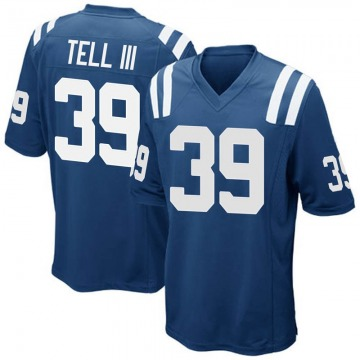 Youth Nike Indianapolis Colts Marvell Tell III Royal Blue Team Color Jersey - Game