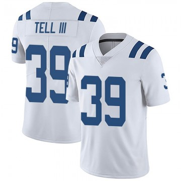 Youth Nike Indianapolis Colts Marvell Tell III White Vapor Untouchable Jersey - Limited