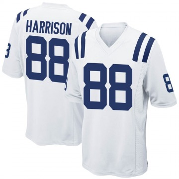 Youth Nike Indianapolis Colts Marvin Harrison White Jersey - Game