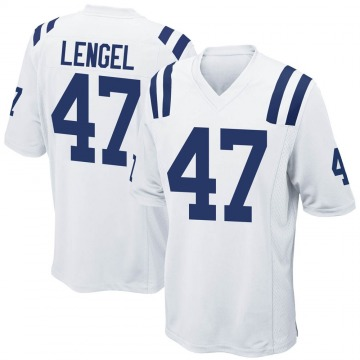 Youth Nike Indianapolis Colts Matt Lengel White Jersey - Game