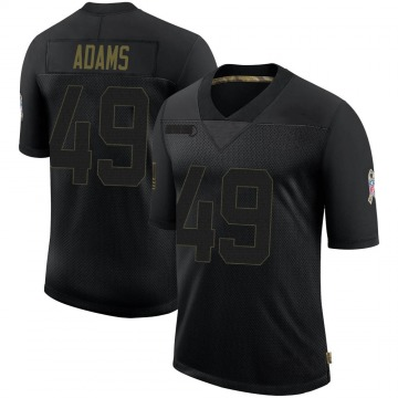 Youth Nike Indianapolis Colts Matthew Adams Black 2020 Salute To Service Jersey - Limited
