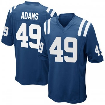 Youth Nike Indianapolis Colts Matthew Adams Royal Blue Team Color Jersey - Game