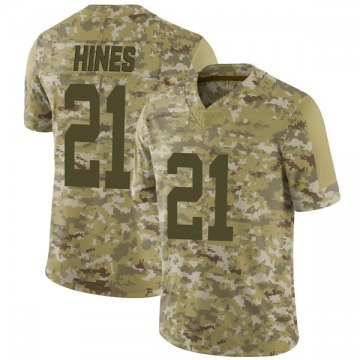 Youth Nike Indianapolis Colts Nyheim Hines Camo 2018 Salute to Service Jersey - Limited